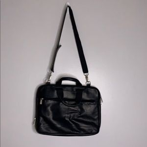 Kenneth Cole Reaction black leather briefcase